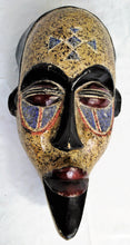 Load image into Gallery viewer, Painted Bearded Warrior Wooden Mask