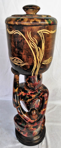 Colourful Ornamental Pot Statue