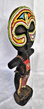 Load image into Gallery viewer, Round Head Colourful Beaded Wooden Poupe