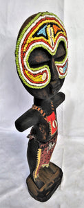 Round Head Colourful Beaded Wooden Poupe