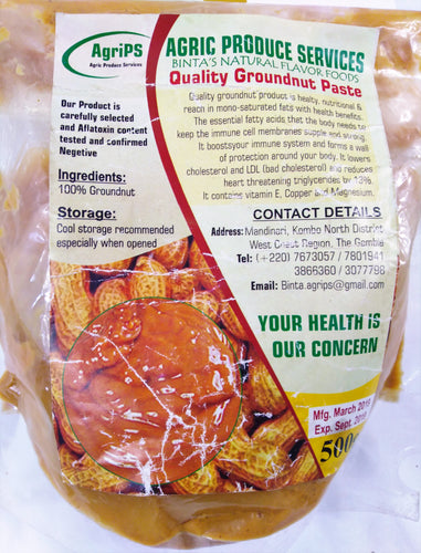 Quality Groundnut Paste 500 grams (M.O.Q. 5 packs)