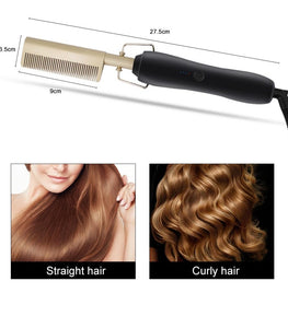 Combhigh-2-in-1 Hair Curler And Straightener Comb