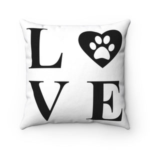 High Quality Interior Art, Two Different Designs : Namaste Yoga and Dog Love Square Pillow
