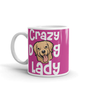 Novelty Fun Crazy Dog Lady Mug, Funny Gift Mug, Unique Design and Personal