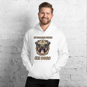 Dog Lover Hoodies that will turn heads, Witty Slogan, Loveable Smiley Dog Face Unisex Hoodie Available in 5 colors
