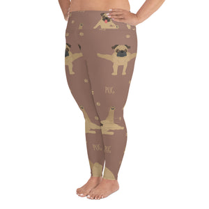 Stylish and Comfortable Ultimate Pug Yoga All Over You  Plus Size Leggings