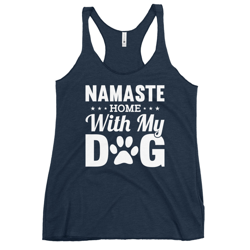 Leisure or Fitness Wear for Women, Namaste Racerback Tank, Stylish and Easy to Wear, Available in Black, Grey and Navy