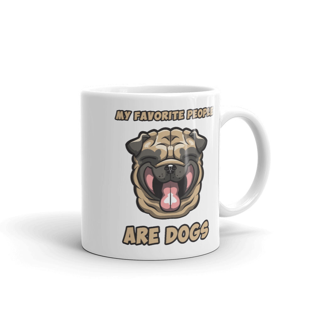 Dog Lover Coffee Mug, Funny Loveable Smiley Dog Face Mug, Unique Design
