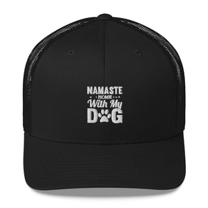 Best Ball Cap, High Quality, Novelty Item, Namaste in White and Black Cap