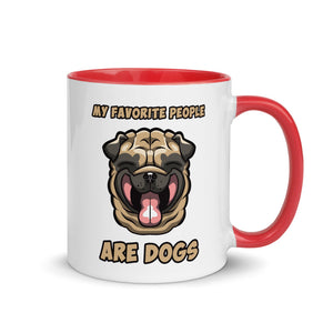 Novelty Mug, Adorable Smiley Dog Face Mug, Funny Gift for Dad, the Dog Walker or Dog Lover in your Life
