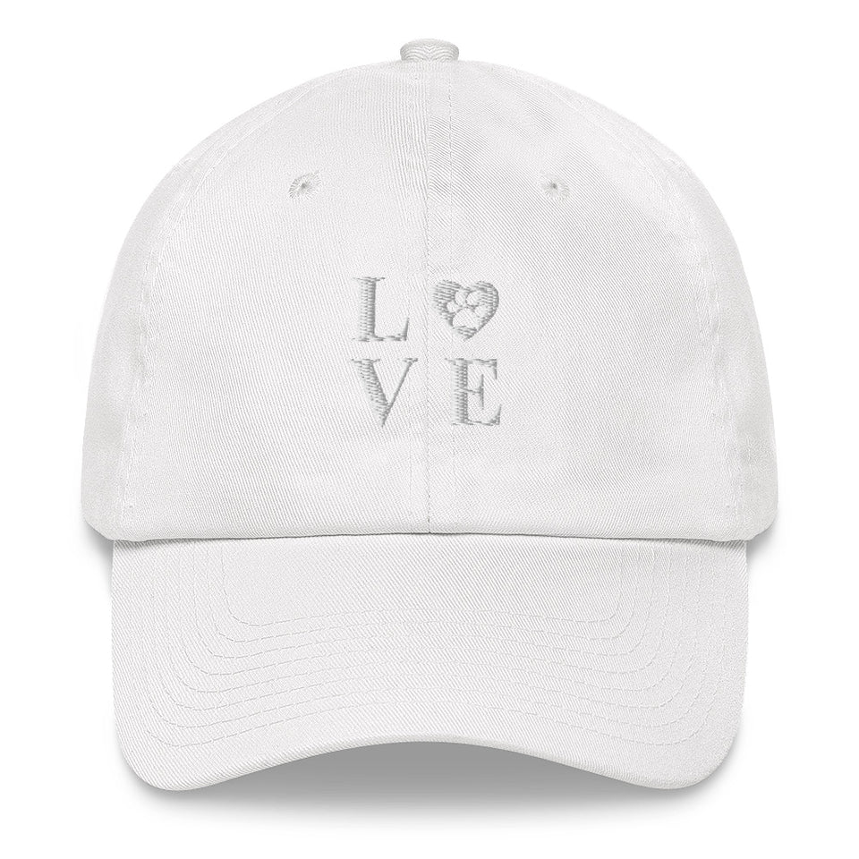 Classic Baseball Hat - An Old Time Favourite, Valentine Dog - The Love Hat