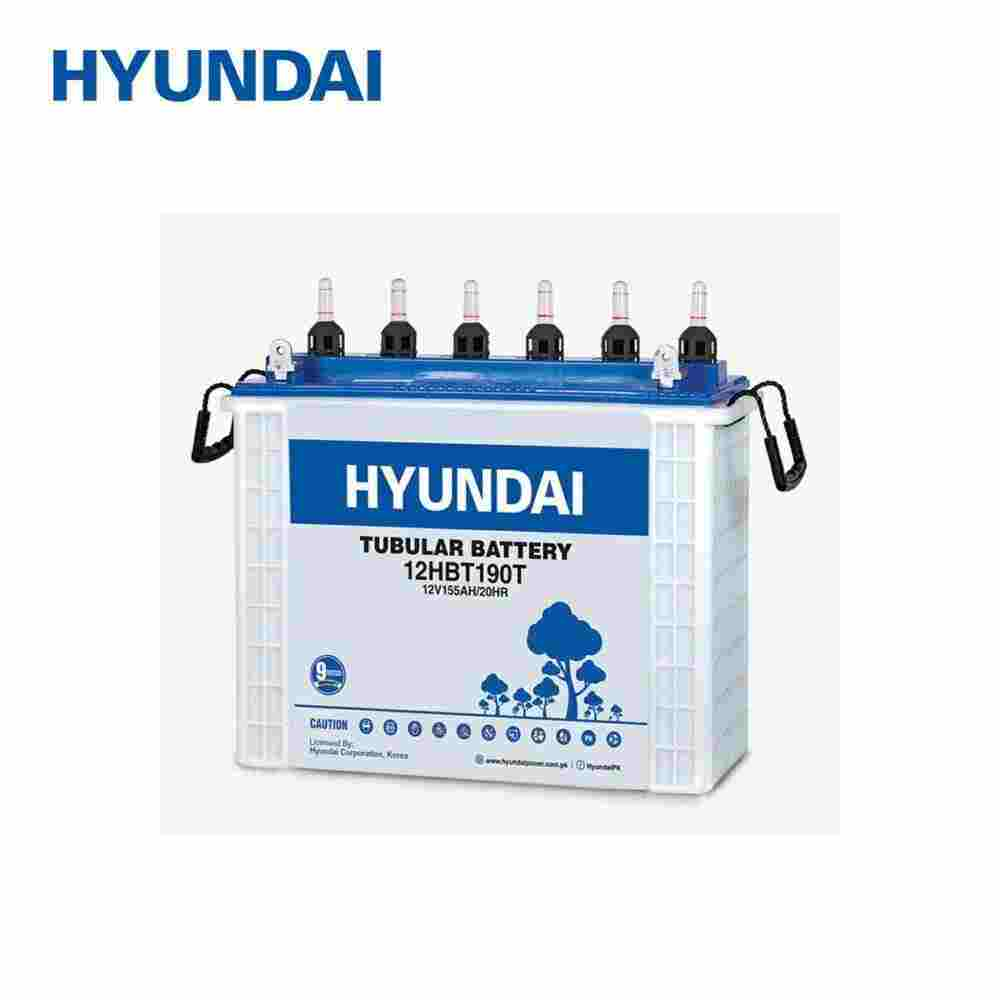 HYUNDAI TUBULAR BATTERY 155 AMP (12HBT190T)