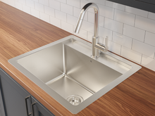 "Load image into Gallery viewer, Prochef Single Bowl dualmount Utility Sink ProInox H75 Stainless Steel, 22"" × 16"" × 12"""