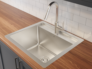"Prochef Single Bowl dualmount Utility Sink ProInox H75 Stainless Steel, 22"" × 16"" × 12"""