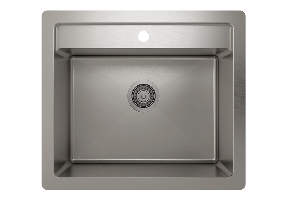 Prochef Single Bowl dualmount Utility Sink ProInox H75 Stainless Steel, 22