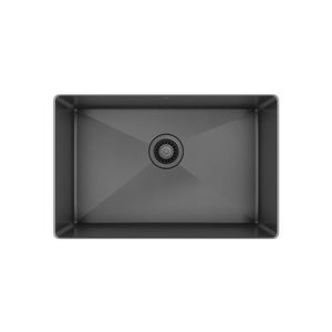 "Prochef single bowl undermount kitchen sink ProInox H75 black stainless steel, 25"" X 16"" X 10"""