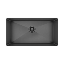 "Load image into Gallery viewer, Prochef single bowl undermount kitchen sink ProInox H75 black stainless steel, 30"" X 16"" X 10"""