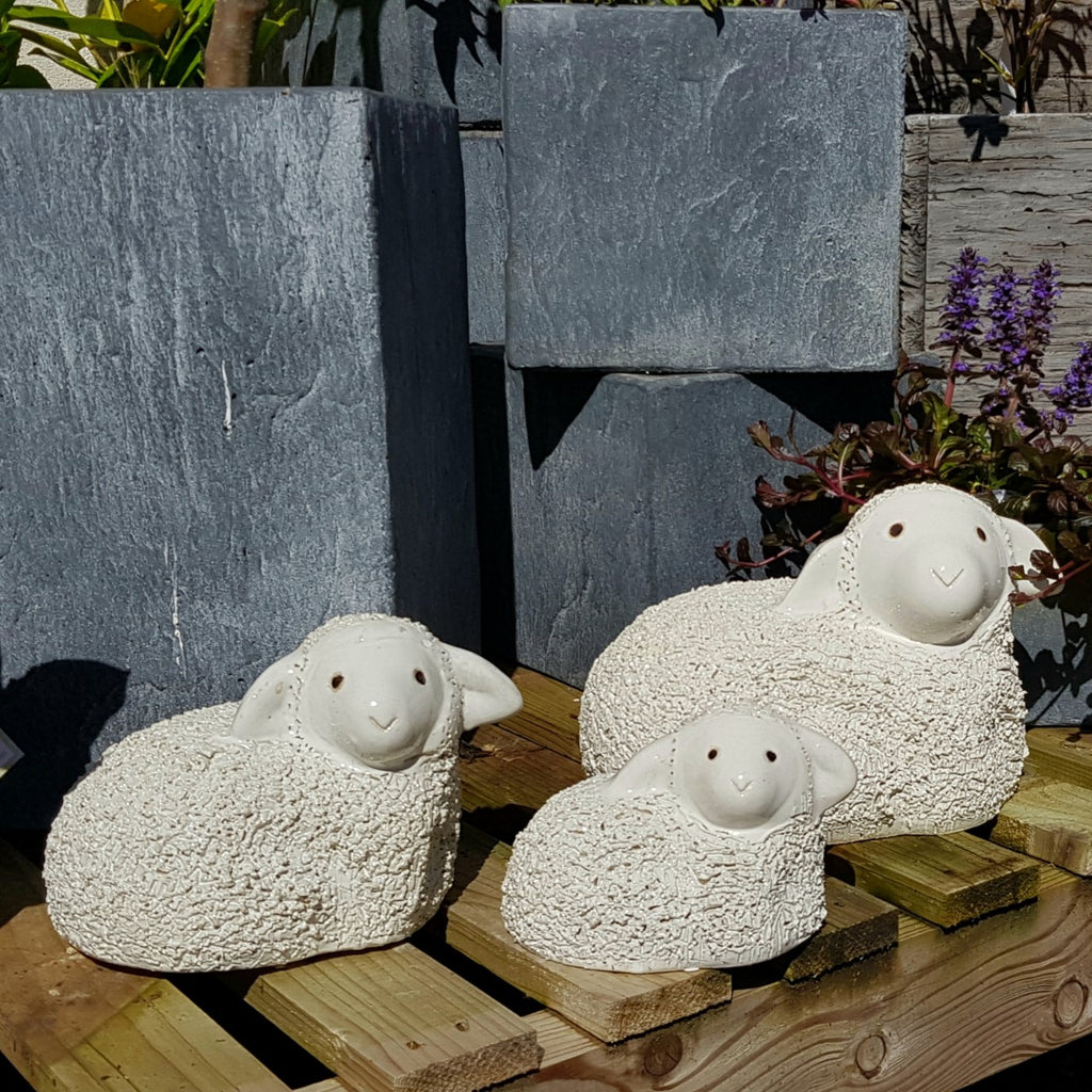 Glazed Sitting Sheep