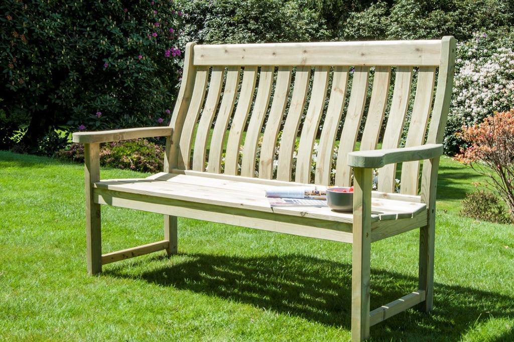 Pine High Back Bench 5ft