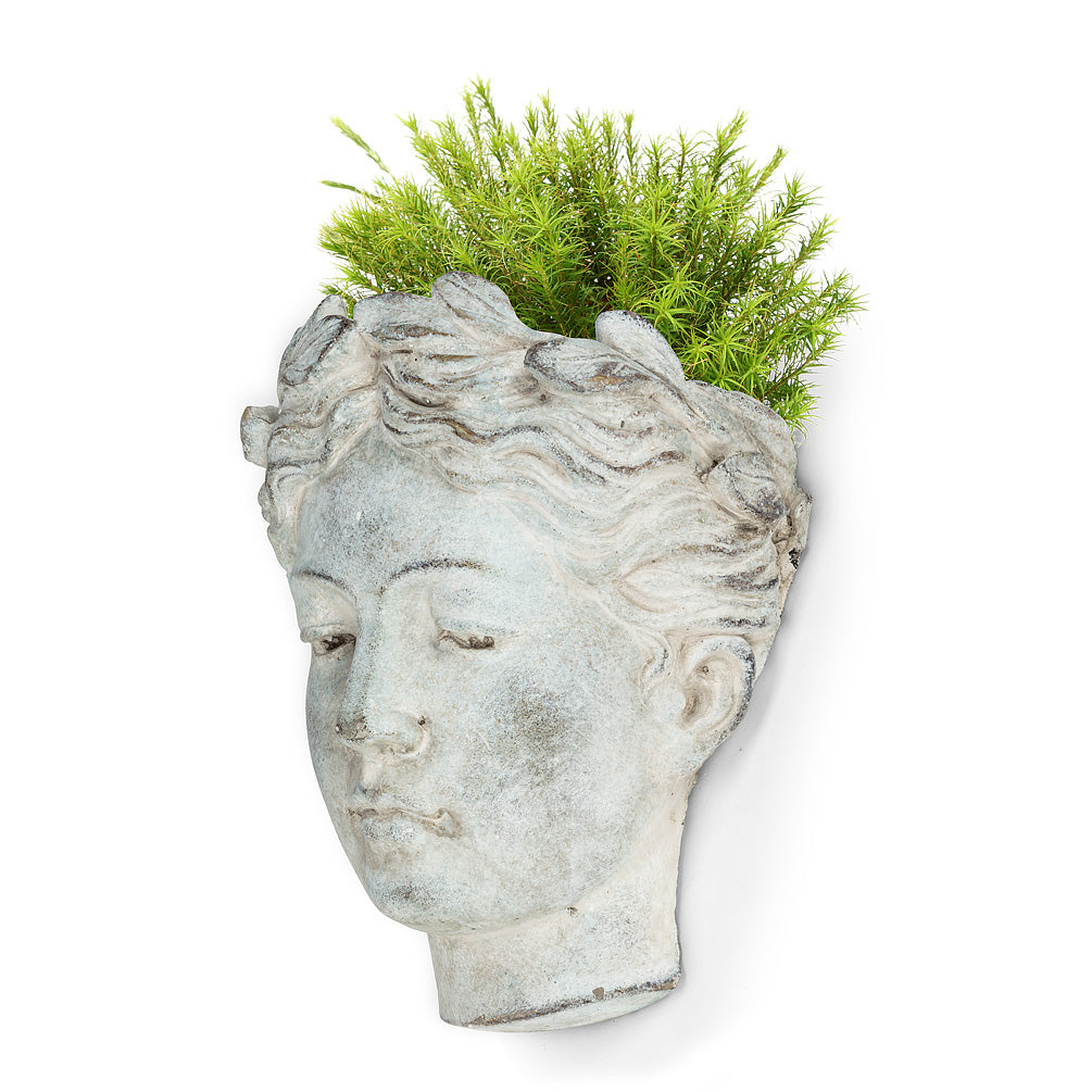 WOMAN HEAD WALL-MOUNTED POT