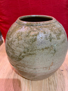 WHEEL THROWN STONEWARE 1970'S VASE