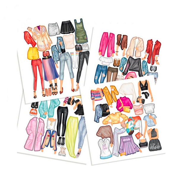 LIBRO TOP MODEL DRESS ME UP STICKER BOOK