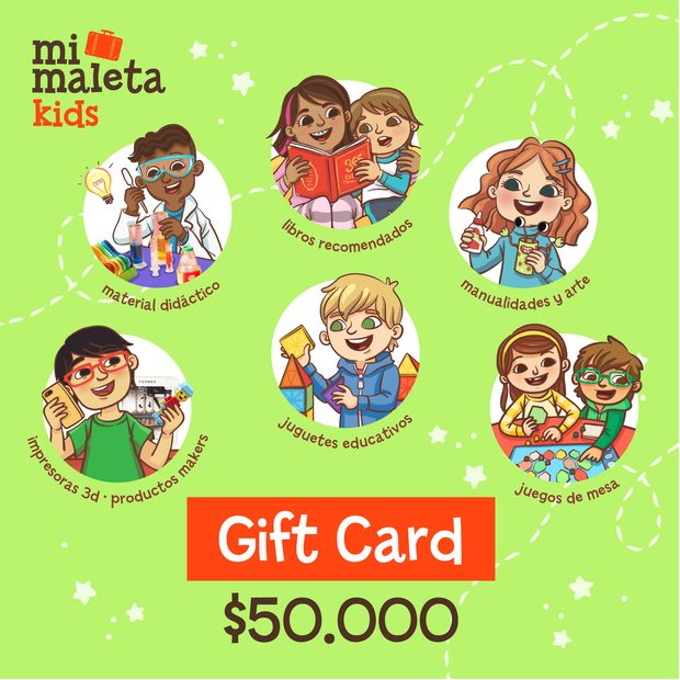 Gift Card $50.000 Mi Maleta Kids