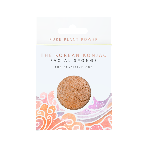 THE ELEMENTS AIR - CALMING CHAMOMILE & PINK CLAY KONJAC FACIAL SPONGE - Realness of Beauty