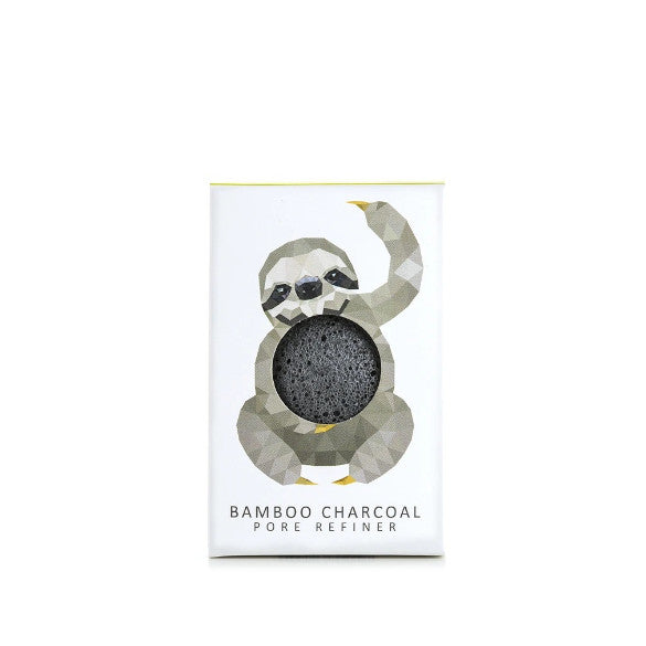 KONJAC MINI PORE REFINER RAINFOREST SLOTH WITH BAMBOO CHARCOAL - Realness of Beauty