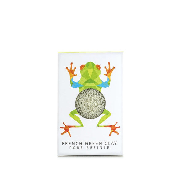 KONJAC MINI PORE REFINER RAINFOREST TREE FROG WITH FRENCH GREEN CLAY - Realness of Beauty