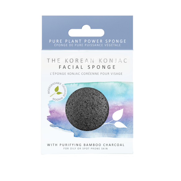 PREMIUM FACIAL PUFF SPONGE WITH BAMBOO CHARCOAL - [vendor_name] - Shop at Realness of Beauty
