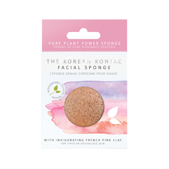 KONJAC PREMIUM FACIAL PUFF SPONGE WITH FRENCH PINK CLAY - Realness of Beauty