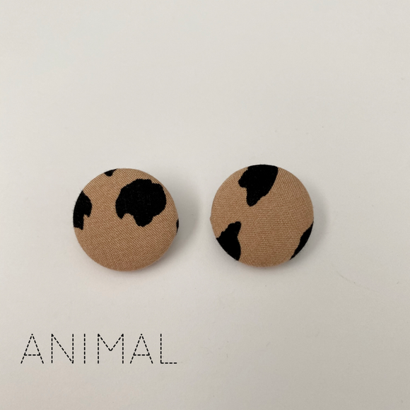 FABRIC EARRINGS - ANIMAL