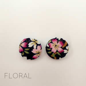 FABRIC EARRINGS - FLORAL