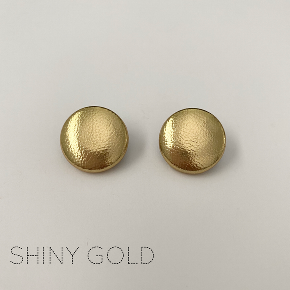 FABRIC EARRINGS - SHINY GOLD