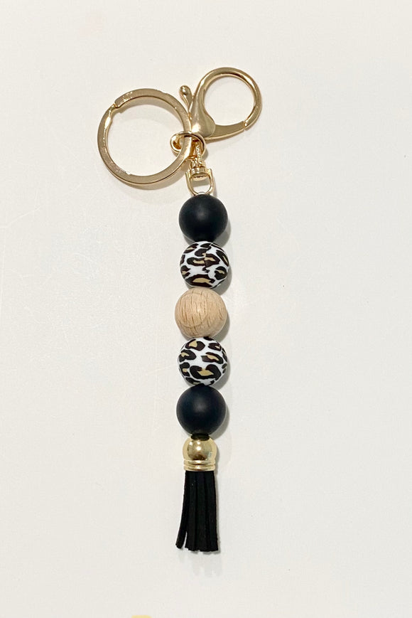 The 'Nicole' - Silicone beaded keyring