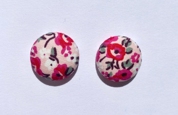 FABRIC EARRINGS - POPPIES