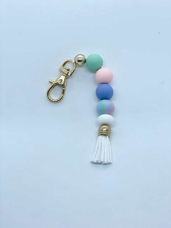 The 'Millie' - Silicone beaded keyring