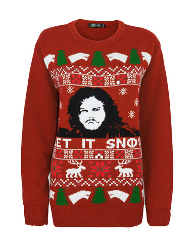 Ladies Women Men Knitted Game of Thrones Let It Snow Christmas Santa Xmas Jumper