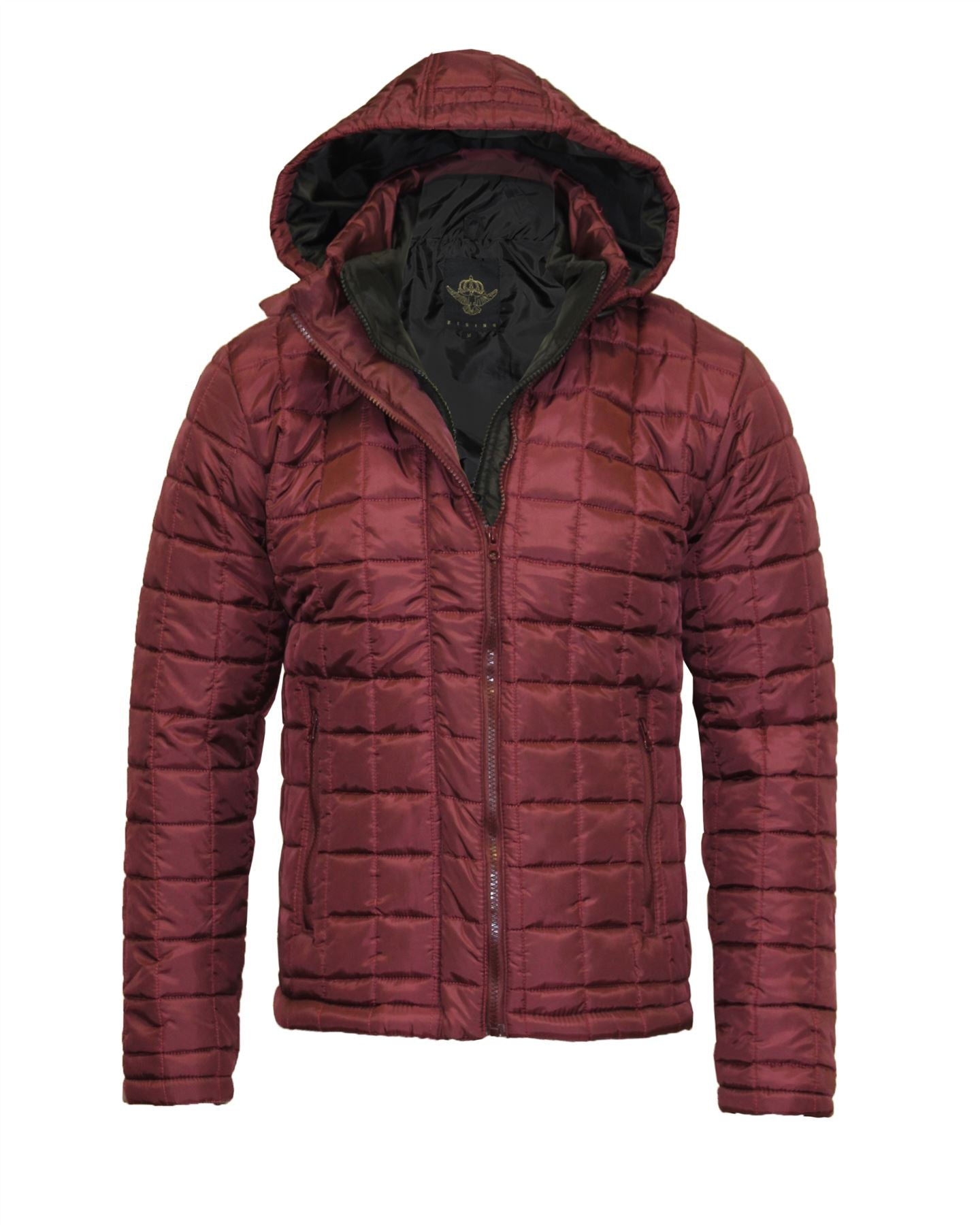 Mens Quilted Padded Hooded Double Zip Warm Puffer Coat Bubble Thick Jacket 8-14