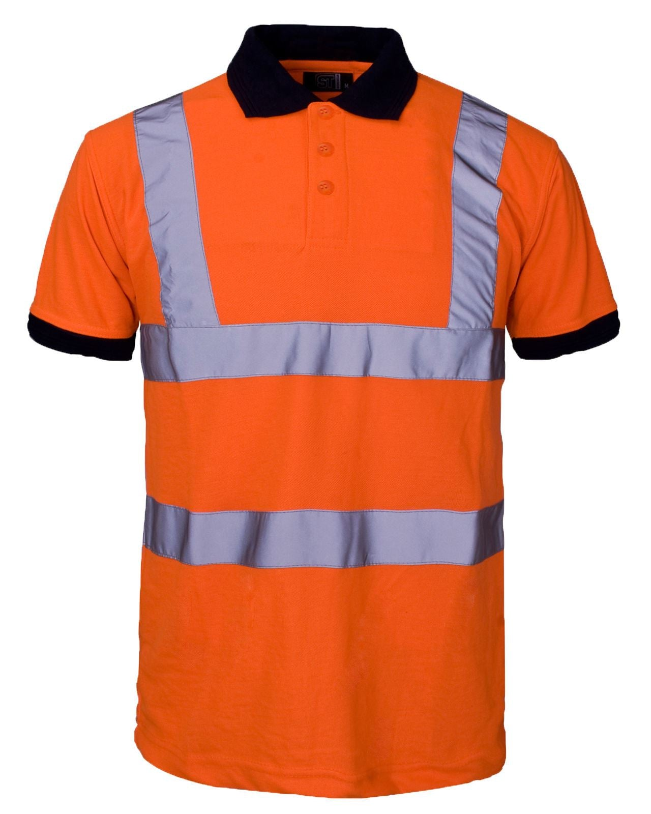 New Hi Visibility High Viz Short Sleeve Safety Work wear Collar Polo T-Shirt Top