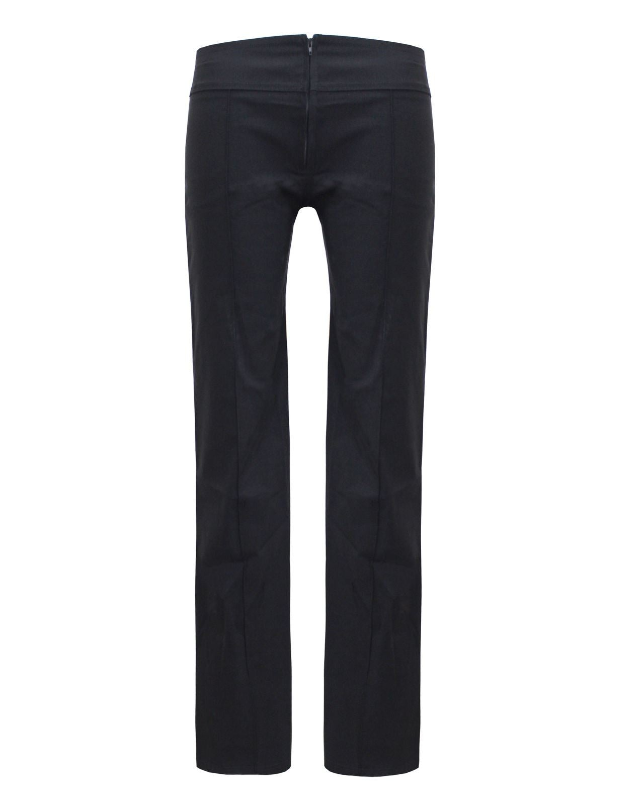LADIES WOMENS STRETCHED BOOT CUT OFFICE SCHOOL HIPSTER TROUSER PANT 8 10 12 14