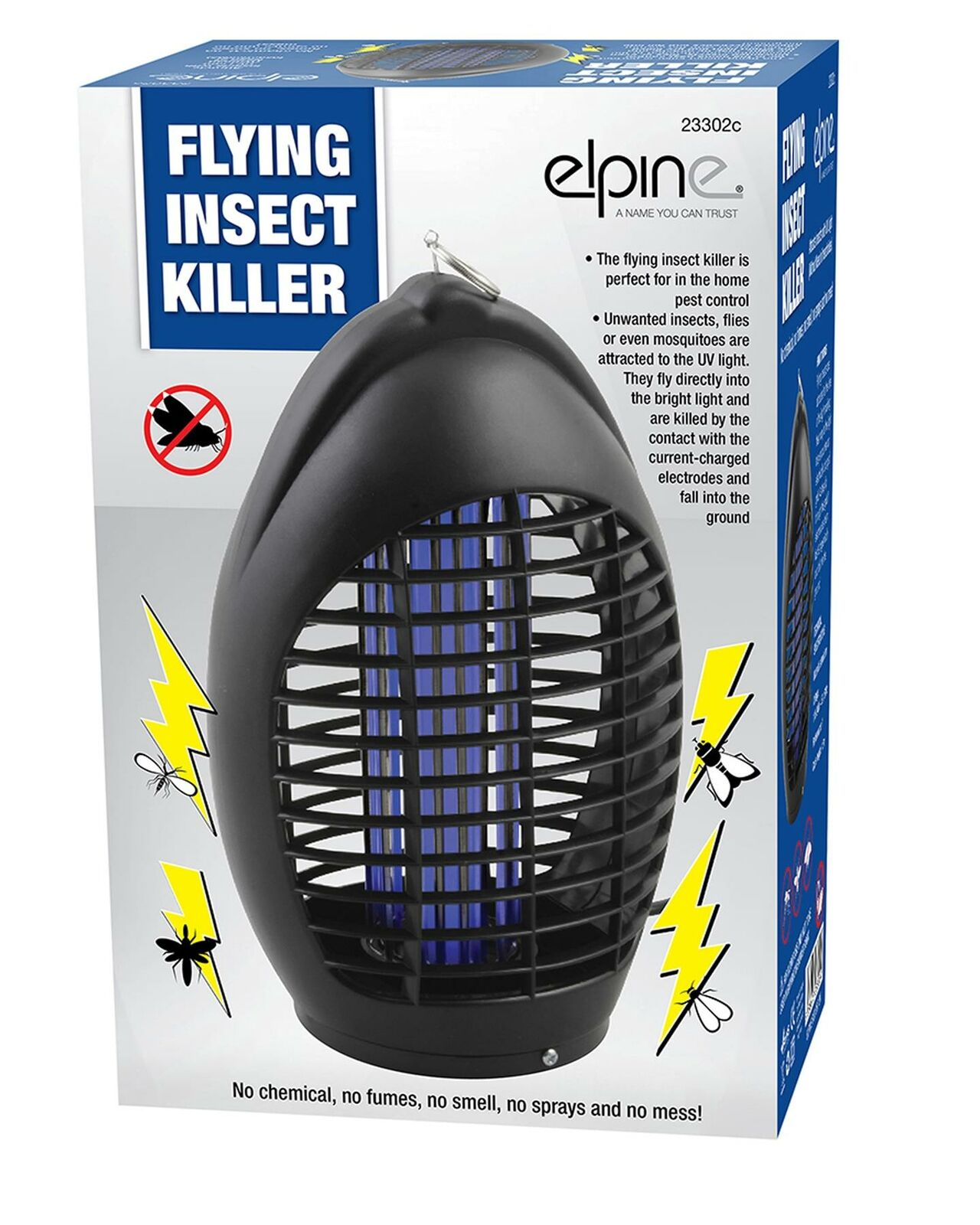 Electric UV Light Zapper Pest Trap Home Fly Insect Bug Wasp Mosquito Killer