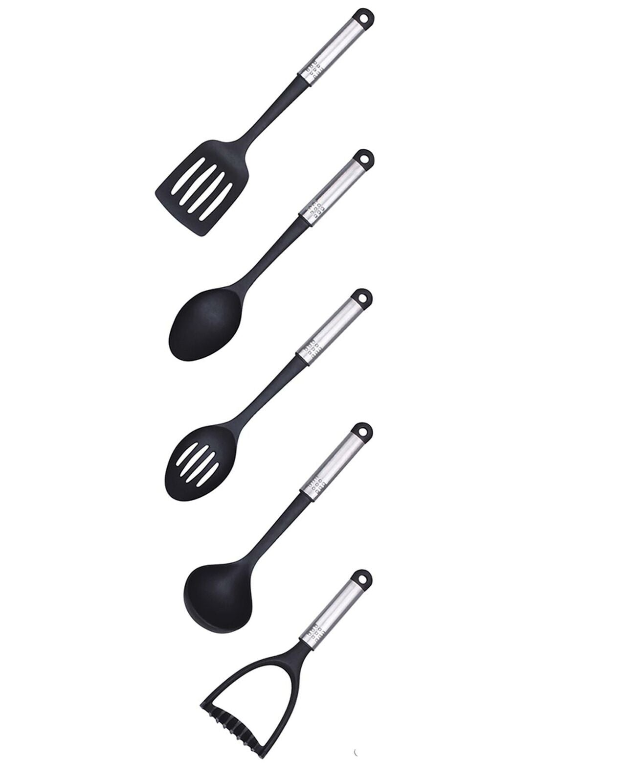 5 Pcs Non-stick Cooking Utensil Nylon Set  Kitchen Gadgets Spoon Masher Ladle