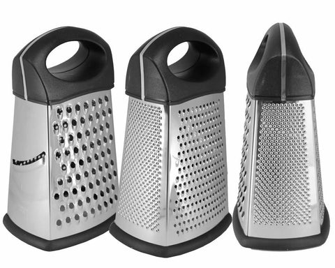 Heavy Duty 4 Way Grater Stainless Steel Kitchen Slicer Cutter Tools 8''
