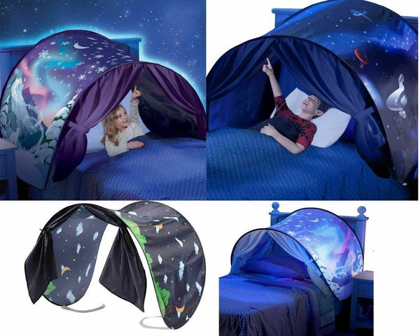 Pop up Indoor Bed Kid Dream Tents House Space Adventure Wonderland Foldable Tent
