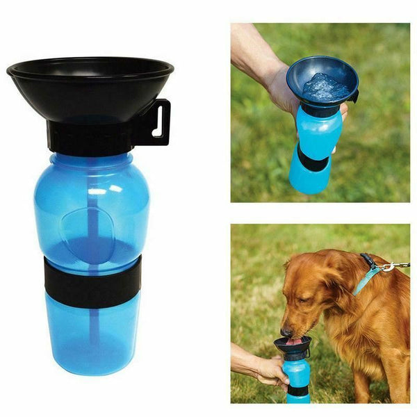 Squeezable Anti-spill Portable Travel Water Easy Carry Auto Dog Mug Water Bottle