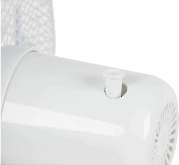 "3 Speed Levels 16"" Oscillating Desk Fan White"