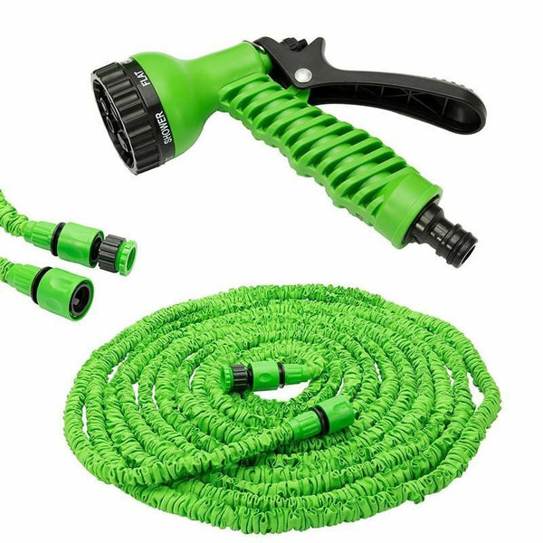 25/50/75/100 Foot Expandable Garden Hose Flexible Pipe Expanding With Spray Gun