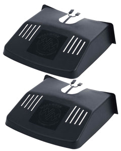 2pcs Plastic Black Drain Grid Gutter Covers Tidy Protector Leaf Guard Outside